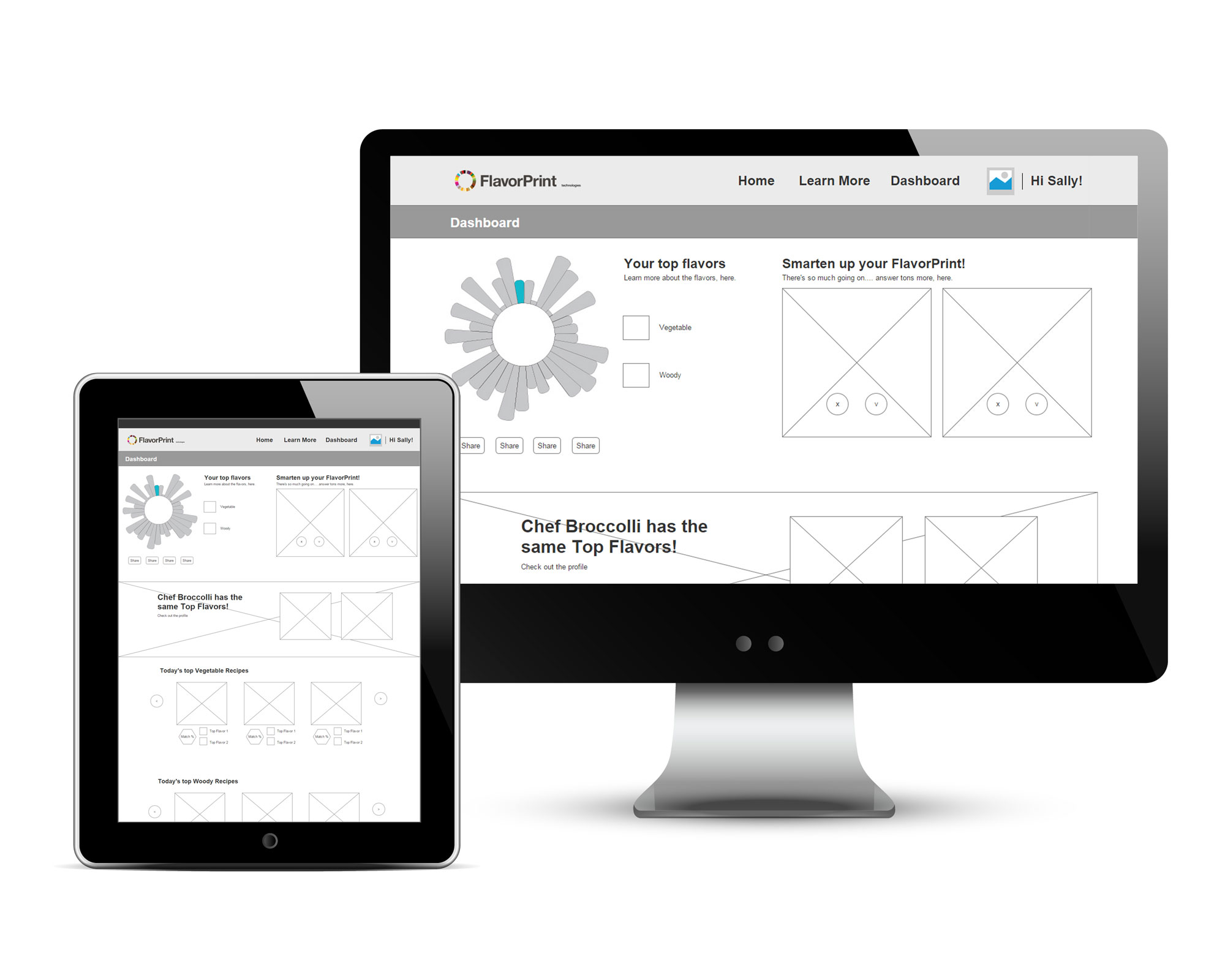 FlavorPrint Site Redesign Wireframes